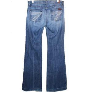 7 For All Mankind Dojo Wide Leg Jeans Size 30